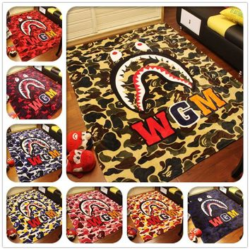 Winter Super Soft WGM Shark Blanket Supreme Fleece Blankets A Bathing Ape / Bape Coral
