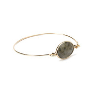 Faceted Faux Stone Bangle