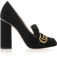 Gucci - Fringed suede pumps