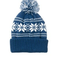 French Connection Snowflake Bobble Beanie
