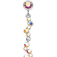 Crystal Journey Swirl Belly Button Ring