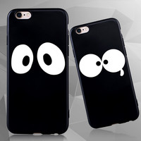 Black Super Cute Silicone Case for iPhone