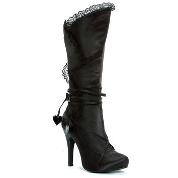 Ellie Shoes E-400-Gothika 4 Satin Knee High Boot