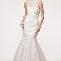 KCW1558 Lace Mermaid Halter Wedding Dress by Kari Chang Eternal
