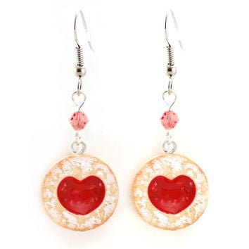 Scented Shortcake Heart Cookie Earrings