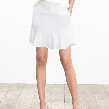 Banana Republic Womens Crepe Flutter Skirt