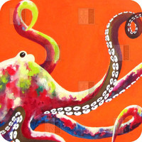 DENY Designs Home Accessories | Clara Nilles Jeweled Octopus On Tangerine BlingBox 3ct Cover