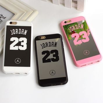 Sport Style Jordan 23 Coque Case For iphone SE 5 5s Back Cover Lover Phone Mirror Case