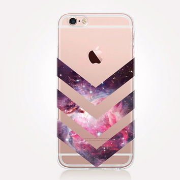 Transparent Pink Universe iPhone Case - Transparent Case - Clear Case - Transparent iPhone 6 - Transparent iPhone 5 - Transparent iPhone 4