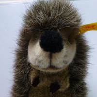 Steiff Porcupine Hedgehog - Knopf Im Ohr - Made in Germany - 1980's