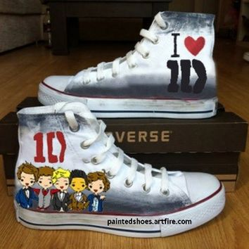 One Direction Shoes-Free Shipping Hand Painted Shoes