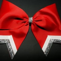 Cheer Bow w/ Silver Accents