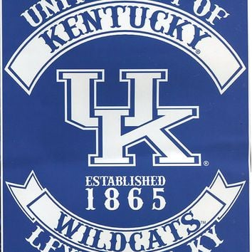 Augusta Sportswear NCAA Kentucky Wildcats Varsity Royal Plush Raschel Blanket, Blue, 60 x 80-Inch