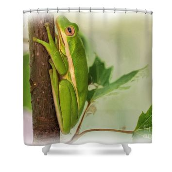 Tre Frog - Digital Paint Shower Curtain