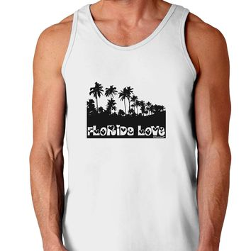 Florida Love - Palm Trees Cutout Design Loose Tank Top  by TooLoud
