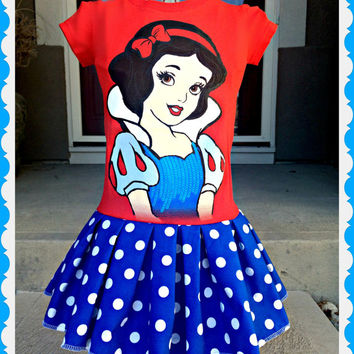 girls Snow White dress girls Snow White Seven Dwarfs Disney Princess 4 5/6 7/8 10/12