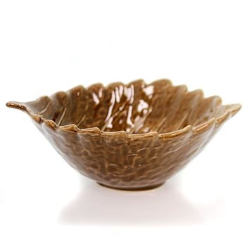 Tabletop Ceramic Leaf Bowl Christmas Tabletop