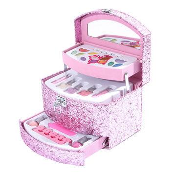 Kids Pink Glitter Make Up Set Gift Box