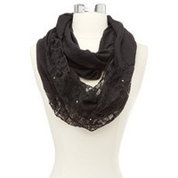 Half Lace Half Solid Infinity Scarf: Charlotte Russe
