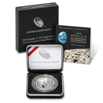 2019-P Proof Silver Dollar Apollo 11 50th Anniversary