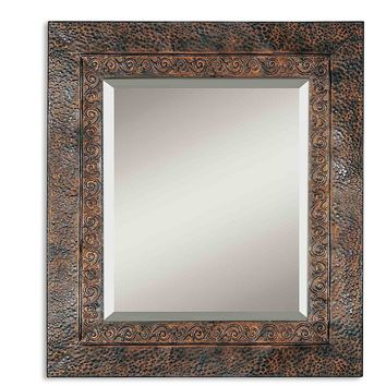 Jackson Rustic Metal Wall Mirror by Uttermost