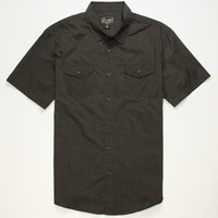 Retrofit Ian Mens Shirt Heather Black  In Sizes