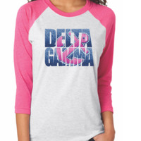 Custom Delta Gamma Anchor Raglan Shirt