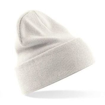 New Winter Warm Plain Beanie Hats Women Men Cap Slouchy Hat Knit Hat Caps