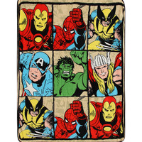 Marvel Comics Heroes Micro Raschel Throw