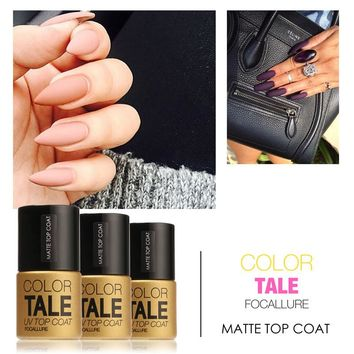 FOCALLURE 12ml Matte Top Coat Nail Gel Polish Long Lasting Matte Top coat LED UV Nails Gel Lacquer Hot Sale