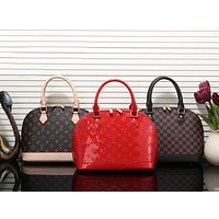 Louis Vuitton LV Trending Women Stylish Leather Satchel Handbag Shell Type Bag(3-Color) I-MYJSY-BB