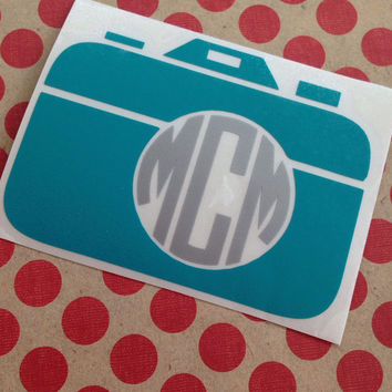 Camera Monogram | Photographer Monogram | Photograph Monogram | Preppy Camera Monogram | Instagram Decal | Photographer Vinyl Decal | Photo
