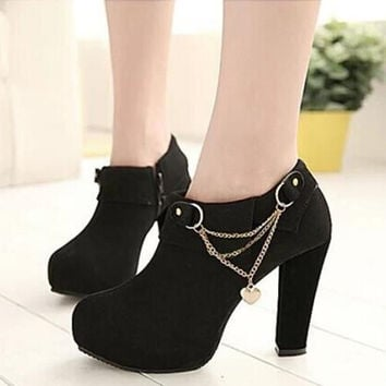 2015 new fashion Women's ankle boots European and American high-heeled shoes crude Martin boots Women pumps 739