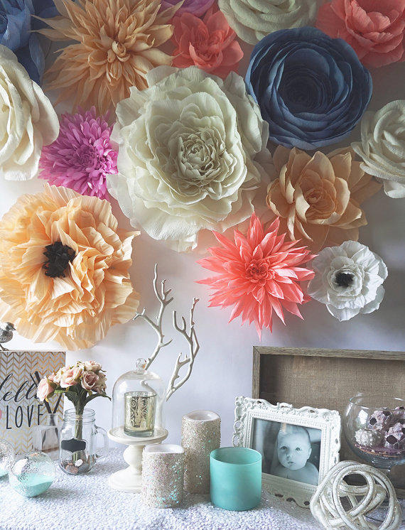 12 Giant Crepe Paper Ranunculus From Decorbytoria On Etsy