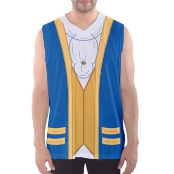 Men's Beauty and the Beast Inspired Athletic Tank Top