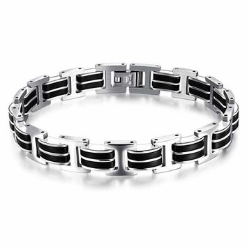 Gift Great Deal New Arrival Stylish Shiny Hot Sale Awesome Birthday Gifts Jewelry Classics Men Simple Design Titanium Bracelet [10783256643]
