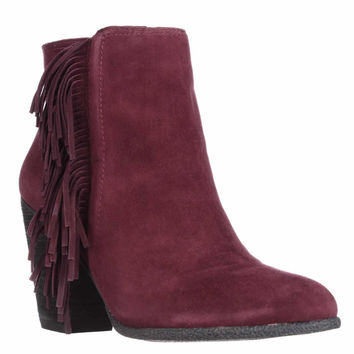 Vince Camuto Hayzee Fringe Ankle Boots, Deep Sugar Plum, 8.5 W US