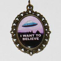 Alien UFO Necklace