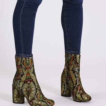 HARRY Jacquard Ankle Boots - Topshop