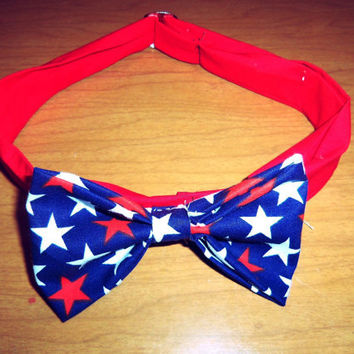American Stars Bow Tie by ShortsNBowsNSuch on Etsy