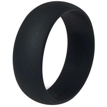 Adventure Outdoor Party Silicone Wedding Band Rings Rubber Active Unisex