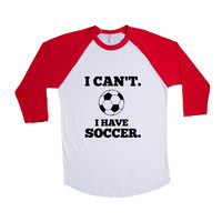 I Can't I Have Soccer Practice Sport Sport Sporty Game Games Teams Athlete Athletic FIFA World Cup SGAL7 Baseball Longsleeve Tee