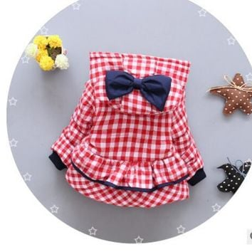 Lattice bow Winter Hooded For Newborns Girl Fashion Warm Down Coat Outerwear Toddler Baby Clothing Infant Clothes High Quality