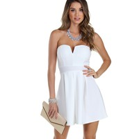 Sale-ivory Love Taker Skater Dress