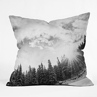 Bird Wanna Whistle White Mountain Throw Pillow