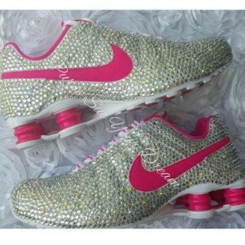 Custom Crystal Swarovski Rhinestone Nike Shox Shoes - Swarovski Shoes -  Custom Nike s 7896b3a7e0