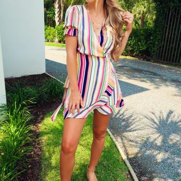 Down Memory Lane Dress: Multi