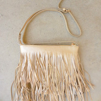 Golden Fringed Crossbody Bag [6996] - $48.00 : Feminine, Bohemian, & Vintage Inspired Clothing at Affordable Prices, deloom