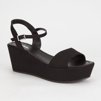 SODA Jozy Womens Platform Wedge Sandals | Sandals