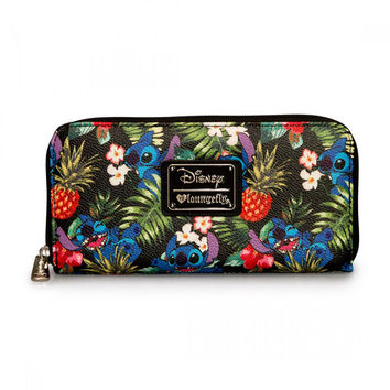 Stitch Hawaiian Print Pebble Wallet